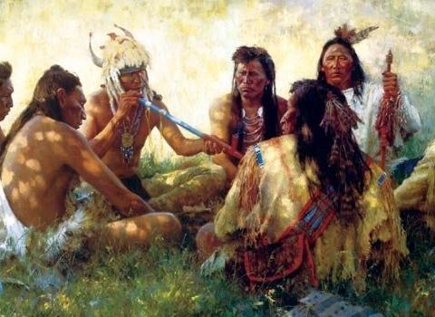 Лулата на мира. За индианците тютюнът бил свещен