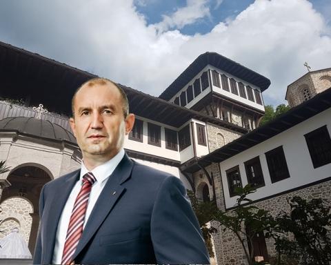 Българският държавен глава бе посрещнат лично от игумена на най-големия македонски манастир Партений и епископ Тимотей.