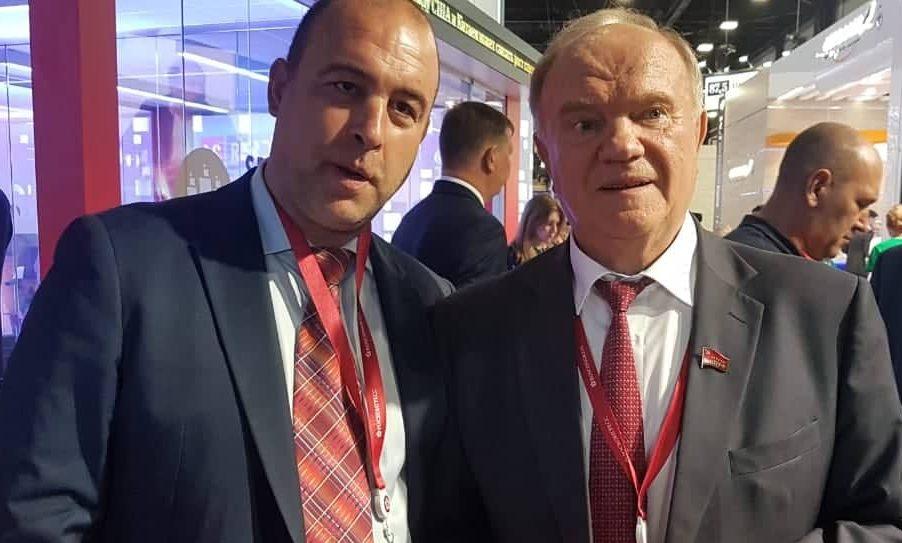 Булпресс и Атанас Стефанов лично с Генадий Зюганов